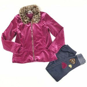 Little Lass Girls 6 2 pcs Velvet Sweater Pants Set